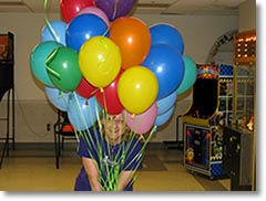 Decorate the hall with balloons